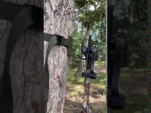 BOW HANGER MOBILE HUNTER ON TREE