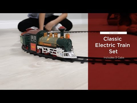 SKY2094 Kids Classic Electric Railway Train Car Track Set for Play Toy