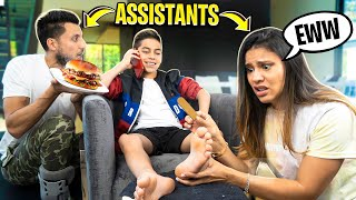 My PARENT'S Are my PERSONAL ASSISTANT'S For a DAY! | The Royalty Family