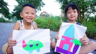 Trò Chơi Thiếu Nhi - Bé Tập Vẽ Thủ Công - Đồ Chơi Trẻ Em