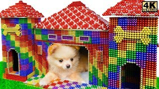 DIY - How To Build Mud Dog House For Puppy From Magnetic Balls ( Satisfying ) | Magnet Satisfying