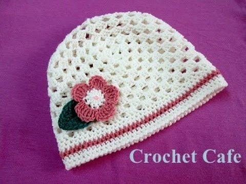 كروشيه طاقية بغرزة الجرانى | كروشيه كافيه|Crochet Cafe