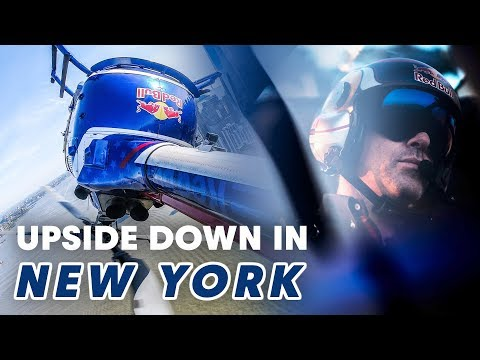 Crazy Upside Down Helicopter Flying Over New York City