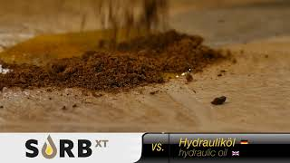 SORB XT vs. hydraulic oil