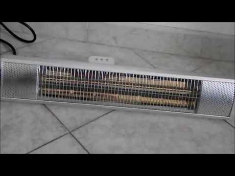 Stufa infrarossi alogena montaggio a parete DURAMAXX