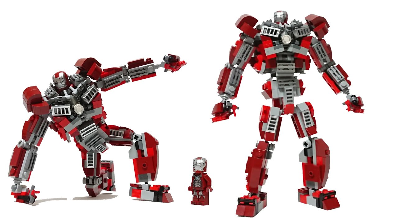 Lego Iron Man Mark 5 Massive Suit moc how to build / tutorial