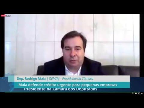 Maia defende crédito urgente para pequenas empresas - 29/06/20