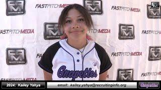 2024 Kailey Yahya 3.75 GPA Speedy Slapper and Outfielder Softball Skills Video - Ca Grapettes McNair