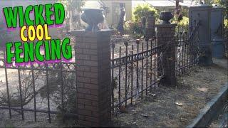 DIY Halloween Decorations | Cemetery Fence & Columns | Halloween Graveyard Decoration Ideas