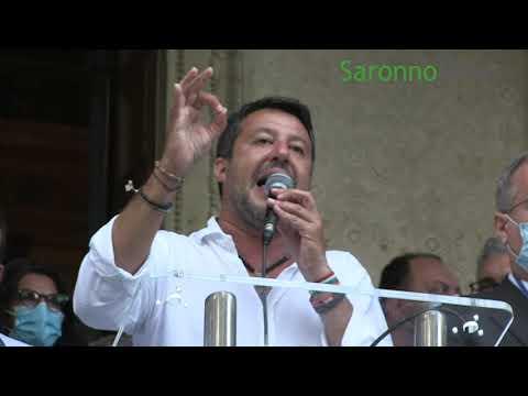 """Salvini a Saronno: """"Vinciamo qui e poi ci riprendiamo Varese"""""""