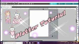 PLOTTER TUTORIAL !  Digi Stamps Im Silhouette Studio Herstellen !