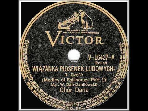 Polish 78rpm recordings, 1938. V-16427. Wiązanka piosenek ludowych, part 1 & 2