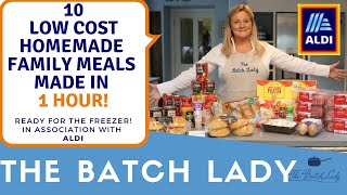 10 low cost family meals made in 1 hr from Aldi