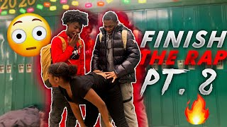 Finish THE RAP 🎤 Or GET DARED PART 2😱‼️  HIGH SCHOOL EDITION   PUBLIC INTERVIEW