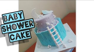 BABY SHOWER CAKE FOR BOY | HOW TO MAKE A BABY SHOWER CAKE | EASY BABY SHOWER CAKE TUTORIAL