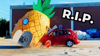 R.I.P. Spongebobs House... Destroyed My Friends Car & Bought Him A Bicycle
