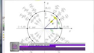 Trig Functions On The Unit Circle: Special Triangles 45-45-90