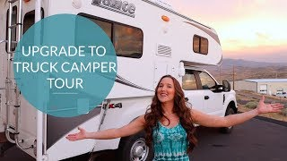 VAN LIFE Upgrade to Living in a TRUCK CAMPER Tour - Female Traveler