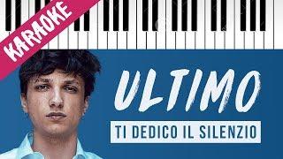 Ultimo | Ti Dedico Il Silenzio  Piano Karaoke Con Testo