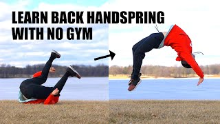 Learn Back Handspring Parkour Easy by - Turning Ground Roll Over Back