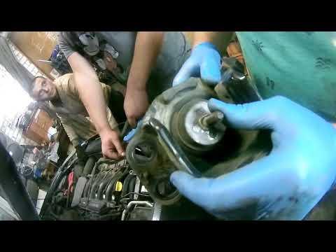 Фото к видео: замена правой подушки двигателя renault symbol II, рено симбол 2, 2008 год,98 лс,1 4
