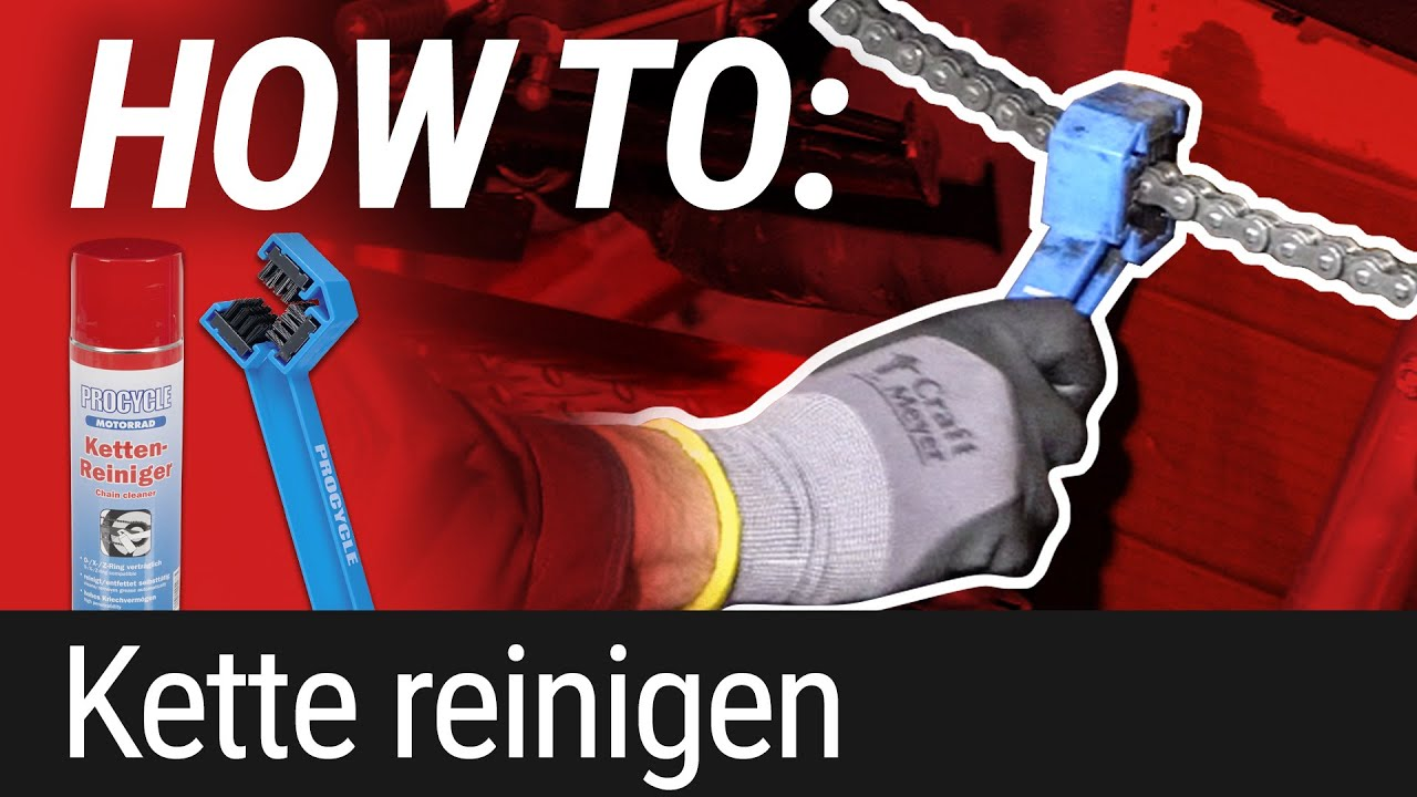 HOW TO: Motorradkette reinigen