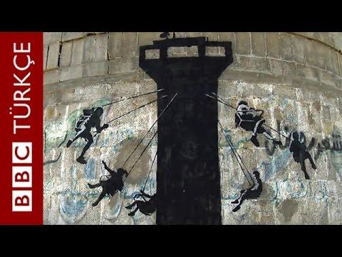 Ünlü grafiti sanatçısı Banksy Gazze'deydi - BBC TÜRKÇE