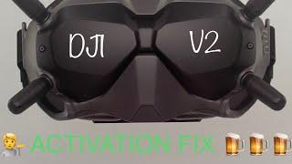 DJI FPV GOGGLES V2 RECORD + ACTIVATION FIX LINK AIR UNIT & CADDX VISTA
