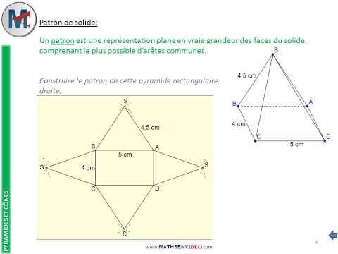 comment construire le patron d'une pyramide a base rectangulaire