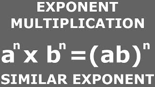 Exponent multiplication: different base number, same exponent