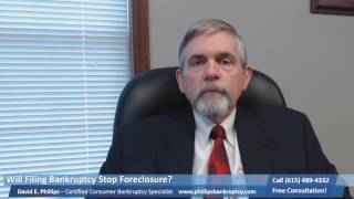 Will Filing Bankruptcy Stop Foreclosure Montgomery County TN|(615) 489-4332|Eviction|Judgements|Repo