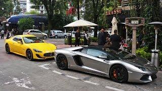 Lamborghini Aventador & Maserati Gran Turismo en la Ciudad de México