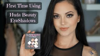 First Time Using Huda Beauty Eyeshadows * Smokey Obsessions Palette*