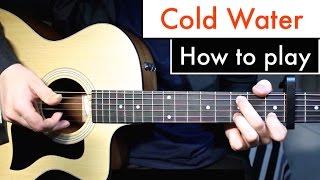 Cold Water - Justin Bieber (Major Lazor) Guitar Lesson Tutorial Chords