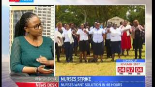 KNH nurses threaten  to join the ongoing nurses' strike