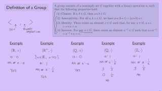 (Abstract Algebra 1) Definition of a Group