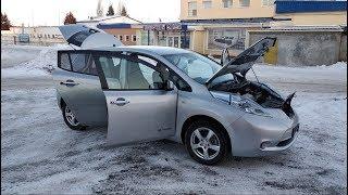 Nissan Leaf после трехмесячного простоя зимой на улице