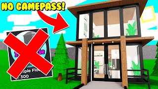 I Made A TWO Story House Using NO Gamepasses In Bloxburg! (Roblox)