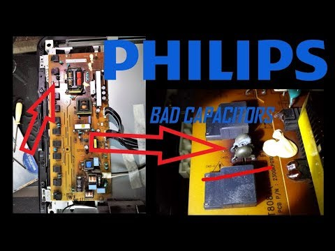 PHILIPS LCD, LED TV - No Picture (backlight), Only Sound, Easy cheap(5$) FIX