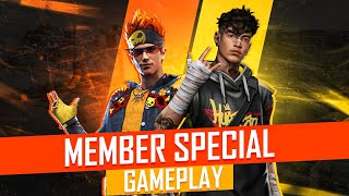 Free Fire Live Ajjubhai Play with Special Member - Garena Free Fire