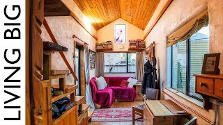 Beautiful Tiny Home Built To Look Like Earthen Cottage - Video Youtube
