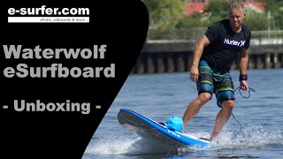 Waterwolf MPX-3 Electric Surfboard Review & Unboxing