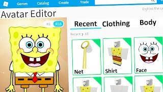 MAKING SPONGEBOB A ROBLOX ACCOUNT
