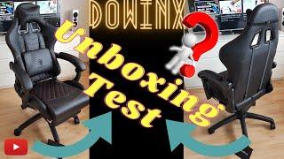 Unboxing Test Dowinx Gaming Stuhl/Chair mit Massage Sportsitz günstig , low bugdet auch Home Office
