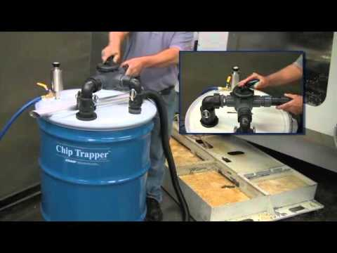 Chip Trapper Vacuums Contaminated Liquid, Pumps Out Clean Liquid