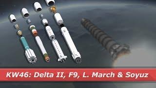 Delta II, Falcon 9, Long March 4C & Soyuz launch! || kNews W.46/2017