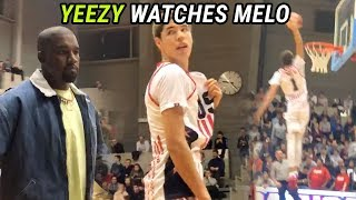 LaMelo Ball Plays In Front Of KANYE WEST In Belgium! Melo GOES OFF When Yeezy Pulls Up 🔥