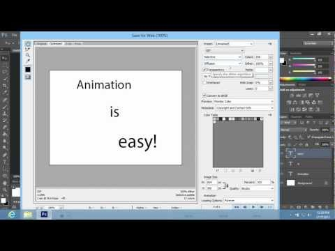 How To Create Animation In Photoshop CS6