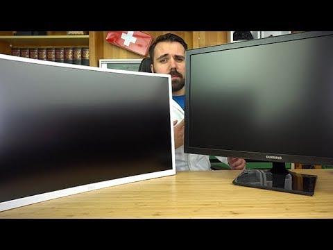 Günstige Monitore fürs Gaming und ihre Unterschiede - 27 Zoll Samsung S27E330H VS HKC C7000 Curved
