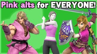 Giving Pink Costumes to Characters Without One - Super Smash Bros. Ultimate